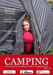 Bilde av forsiden til Statusrapport for campingnæringen 2015