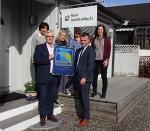 Norsk Turistutvikling mottar miljøfyrtårnbeviset